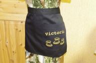 """Priekšauts pusīte """"Victoria"""" kafejnīcai 1kabata uz sāna"""