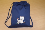 Zila sporta somiņa ar kaķēnu!