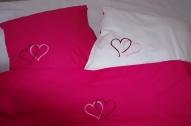 """Izšūta gultas veļa kāzam vai Valentīna dienai """"Avene""""!"""