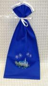 """Dāvanu maisiņš rudzupuķu zils """"Ziemas pils"""""""
