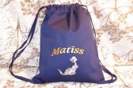 Izšūta sporta somiņa ar pūķīti
