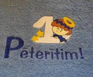 """Izšūts frotē dvielītis""""Pēterītim"""""""